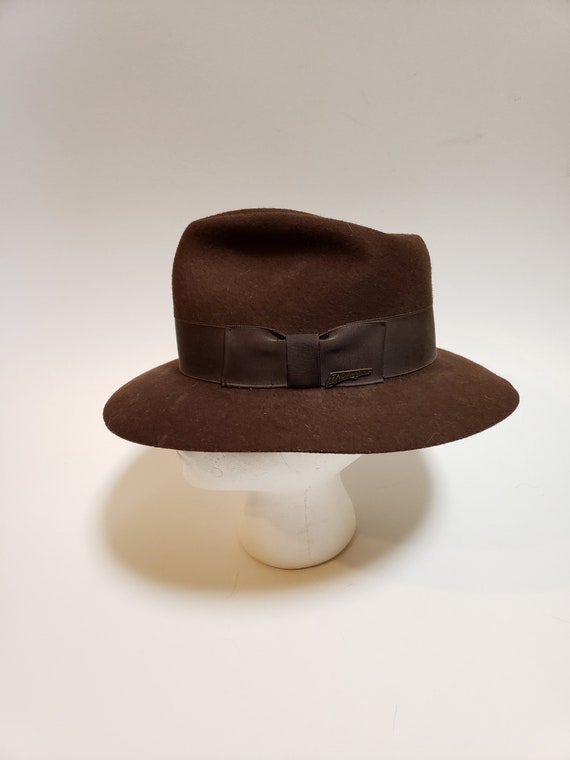 timeless design 6dd46 a2d54 ... low price vintage indiana jones hat 1984 stetson brown western hat size  large 1980s movie memorabilia