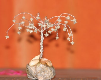 pearl crystal tree