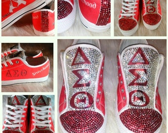 faf8b280ebd8 Delta Sigma Theta Bling Sneakers