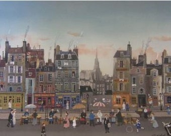 Michel Delacroix Autobus Meridian Art Poster