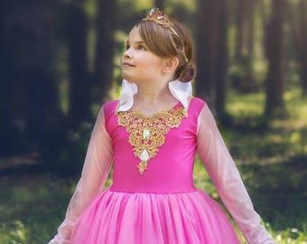 Princess Dress, Sleeping Beauty Princess Aurora Costume, Aurora Dress Birthday Princess, Fairytale Costume