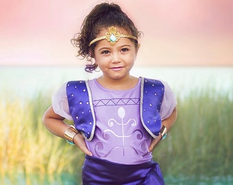 Girl's Shimmer and Shine Inspired Costume, Shimmer Shine Costume, Shimmer Costume, Purple Genie, Girl's Birthday Costume, QUICK SHIP