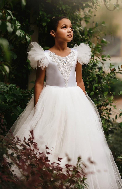 c6615f9849c Cinderella Flower Girl Dress Perfect for Disney Wedding or as