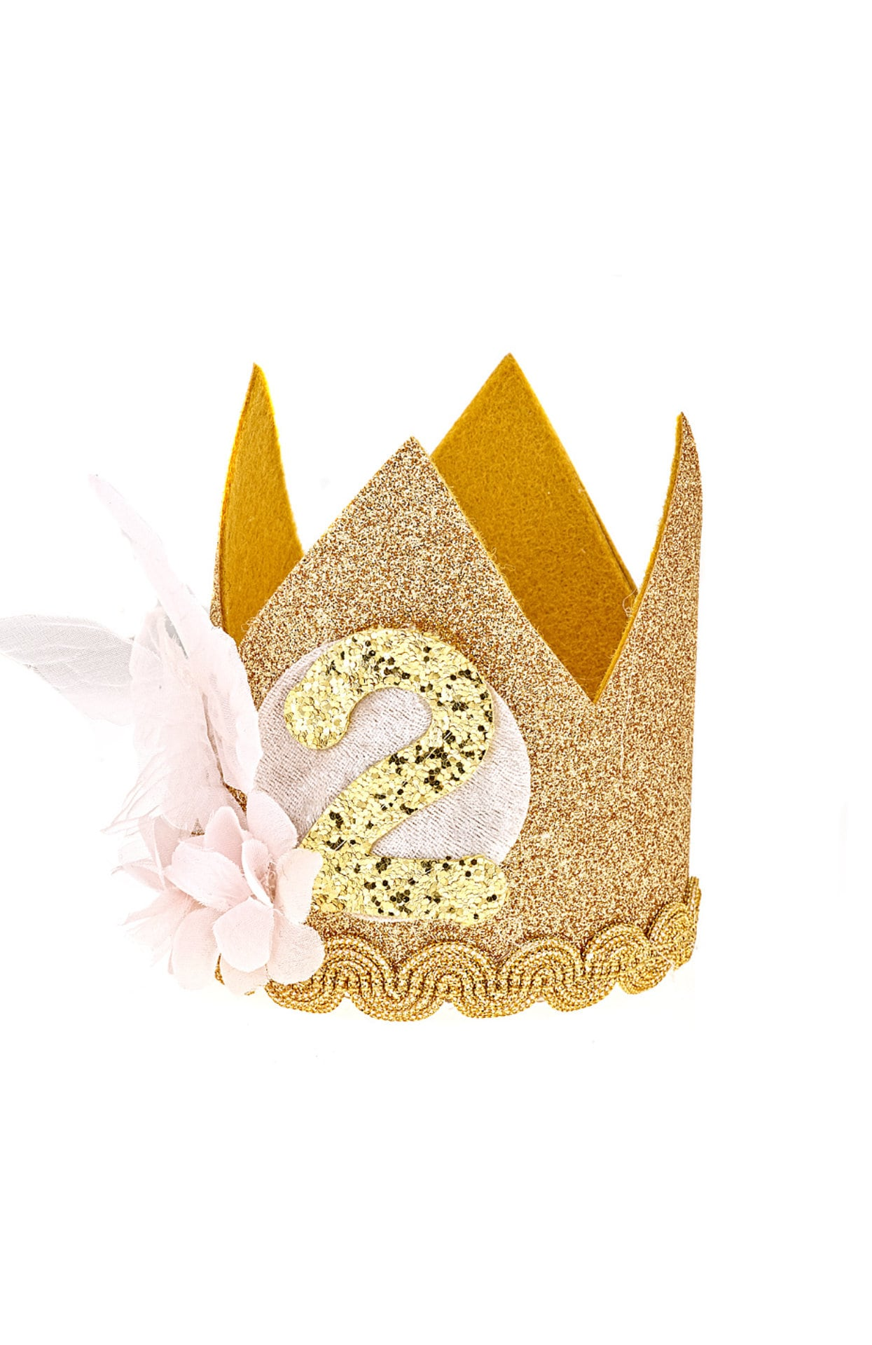 First Birthday Hat Girl 2nd Outfit 1st For Smash Cake Baby Party Hats Gold Pink Butterfly