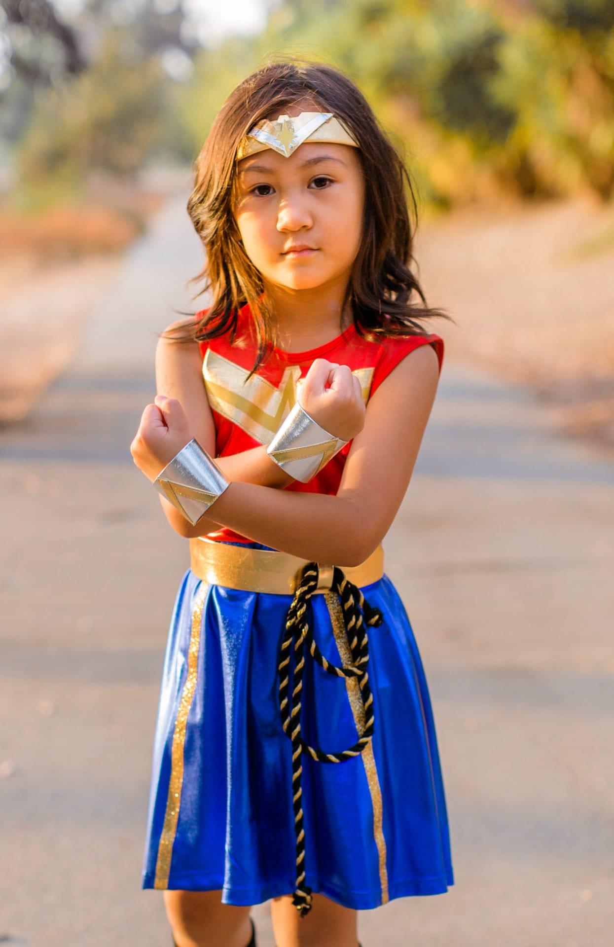 4 People Halloween Costumes Girls.Wonder Woman Girls Costume Inspired Kids Halloween Costume Girls
