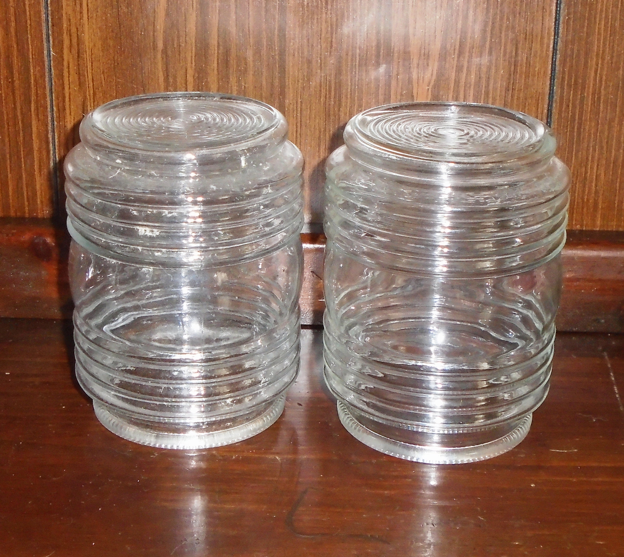 Vintage Clear Plastic 7 inch Ring set of 2