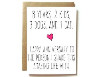 personalized  anniversary card - husband anniversary card- wife anniversary card - share this amazing life