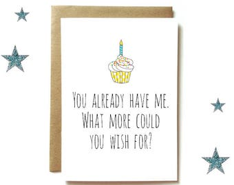 Funny birthday cards etsy funny birthday card birthday card for mom dad or husband wife you bookmarktalkfo Image collections
