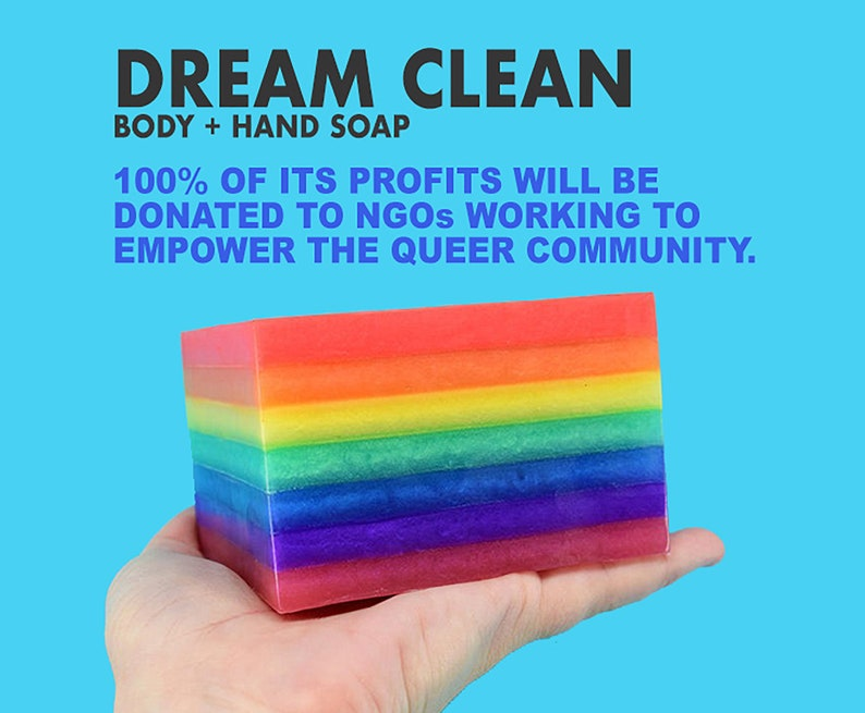 Dream Clean Soap. 100% of Profits Donated to LGBTQIA image 1