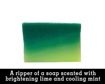 Spearmint Lime-O Body & Hand Soap. Organic Vegan Fair Trade + Cruelty-Free.
