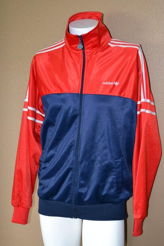 adidas vintage jacket red white blue