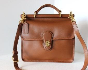 2db7f8a794a4 Clean Vintage COACH Tabac Tan WILLIS Shoulder Bag Handbag Modified Strap  9927 US