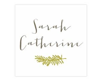 50 Square Calling Cards // Sarah Sprig