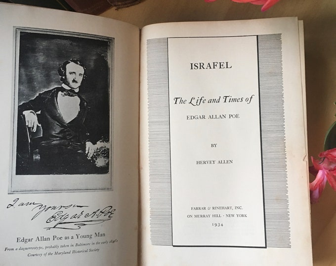 Featured listing image: Israfel: The Life and Times of Edgar Allan Poe- Hervey Allen- 1934