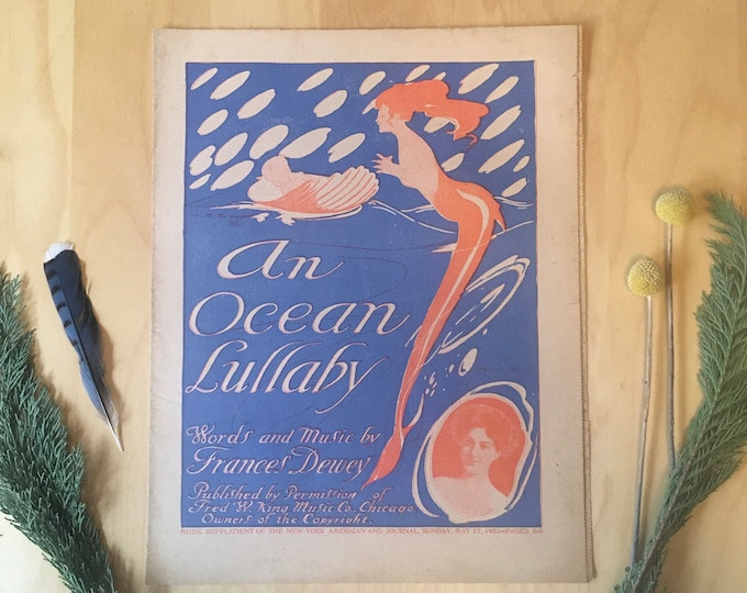Featured listing image: An Ocean Lullaby- Frances Dewy- 1903