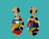 Comet Earrings [Paradiso] - Maximalism - Polymer clay