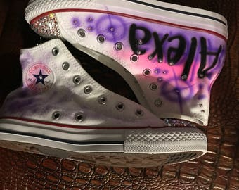 Swarovski Crystal Youth Graffiti Converse 32b747141