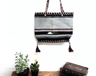 Vintage aztec Woven handbag 10x12