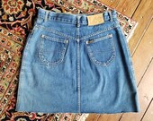 Vintage Lee denim skirt w29 quot distressed