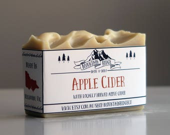 Apple Cider Soap - Handmade Soap, Cold Process Soap, Cocoa Butter, Palm Free Soap