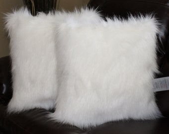 Faux Fur Pillow Etsy