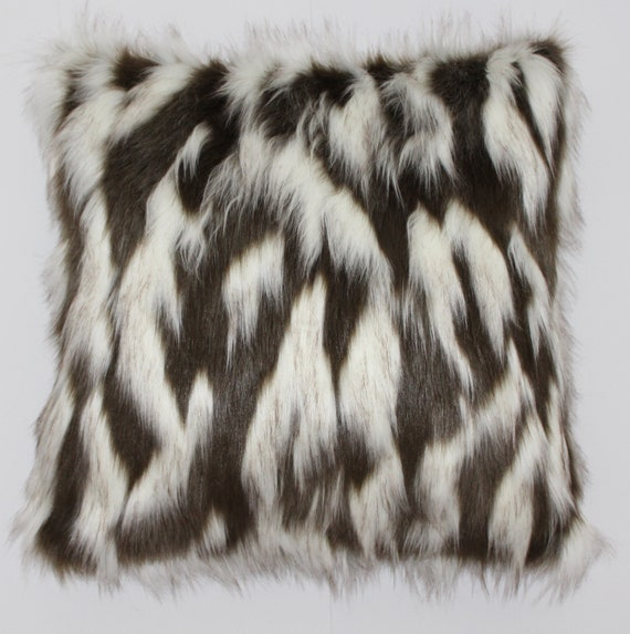 Grey 18 x 18 Befurs 100/% Real Tibetan Mongolian Lamb Fur Pillow Cover