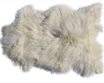 Genuine Icelandic Sheepskin Rug Throw – shade of white