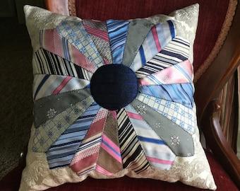 Memory tie pillow | Etsy