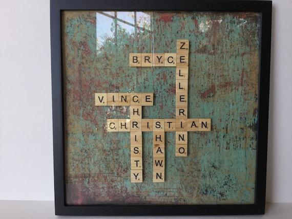 Scrabble Family Crossword Framed Family Crossword Etsy