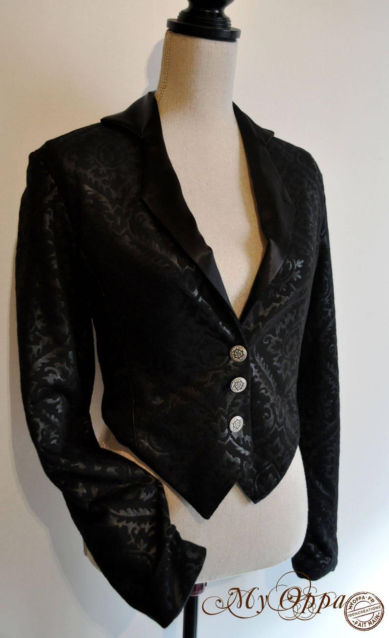 Jacket black baroque