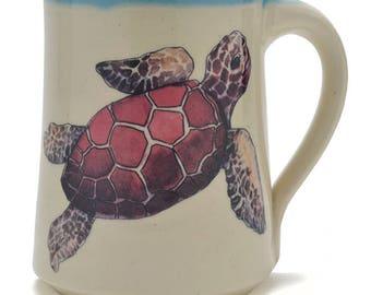 Great Bay Pottery Sea Turtle Coffee Mug