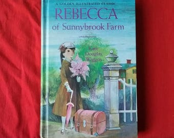Vintage Rebecca of Sunnybrook Farm Golden Illustrataed Classic Book