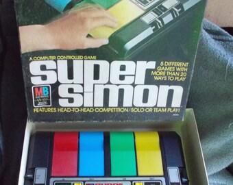 Vintage Super Simon Electronic Game 1979 Milton Bradley Works