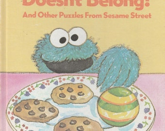 Vintage Sesame Street Book Club Which One Doesn't Belong Cookie Monster 1981