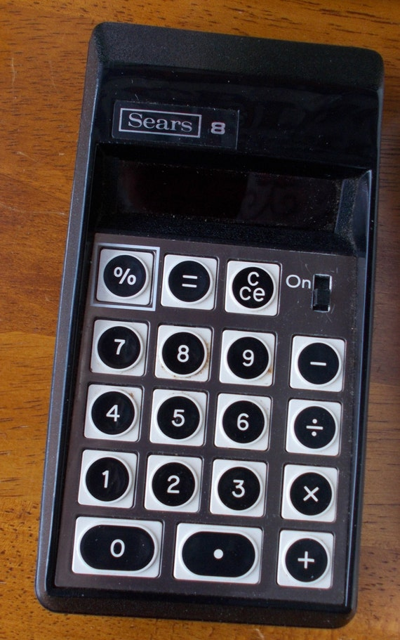 Vintage Electronic Calculator Sears 8 Portable 1970s Etsy