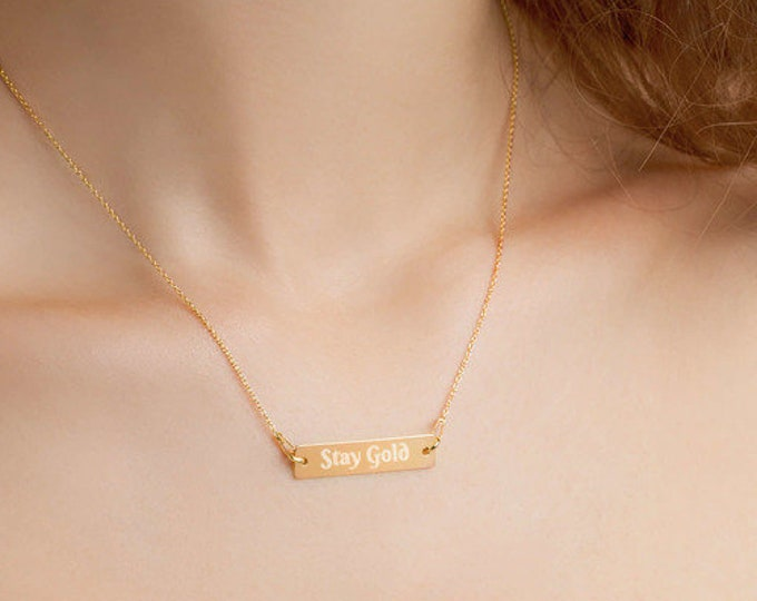 Stay Gold - Engraved Chain Necklace