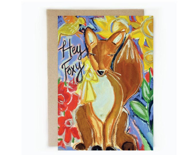 Fox, 5 x 7 eco-friendly note card.