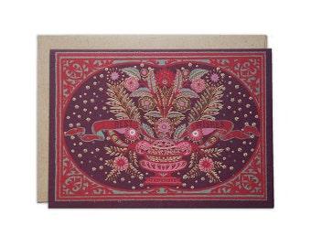 Folk Design Best Wishes Card