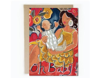 Oh Baby! 5 x 7 greeting card