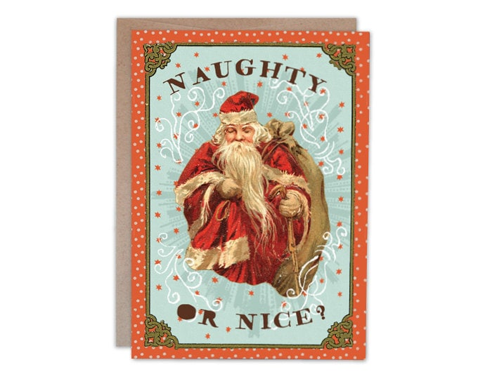 Naughty or Nice? 5 x 7 greeting card