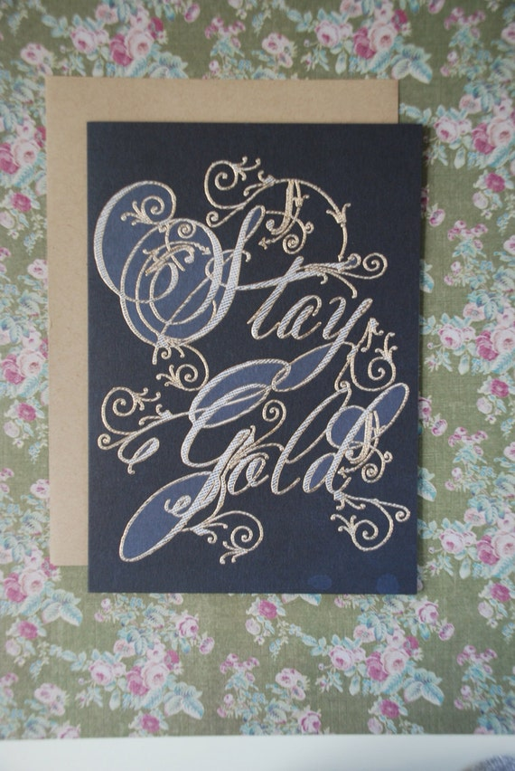 Stay Gold 5x7 greeting card