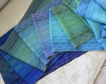 Ready Now! Handwoven Scarf Infinity Cowl Loop Reversible - 7 color choices!