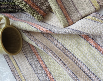 READY NOW Handwoven Towel - Dish Tea Kitchen Hand Bread Guest Towels - Cotton