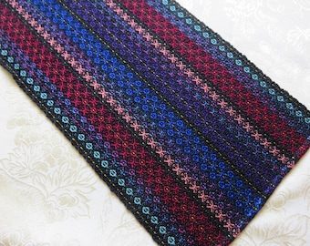 READY NOW Handwoven Table Runner Dresser Bed Scarf Topper 10x26