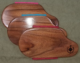RIGHTY Miss Rose Paddles Hand Paddle, Spanker Two-Tone Black Walnut and Rock Maple WN0061 WN060 Palm Paddle