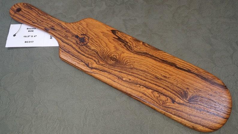Bocote Miss Rose Paddles Exotic Hardwood Spanking Paddle BOE image 0