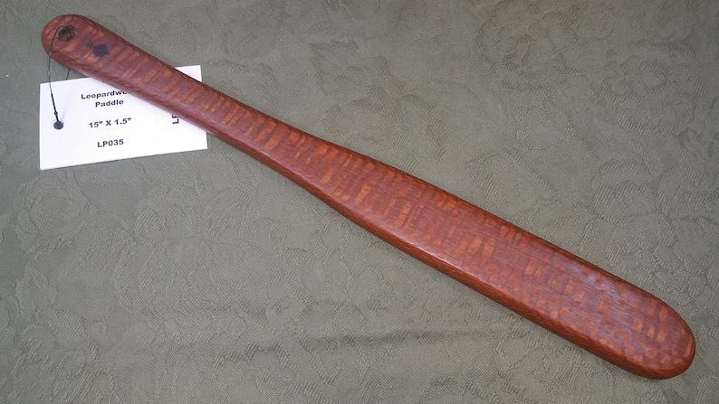 Leopardwood Miss Rose Paddles Spanking Paddle Stick Ruler Bat image 0