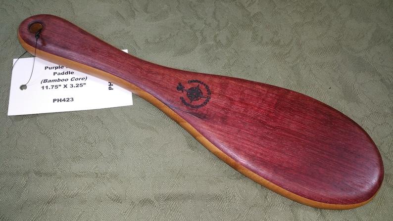 Purpleheart and Bamboo Layered Miss Rose Paddles Spanking image 0