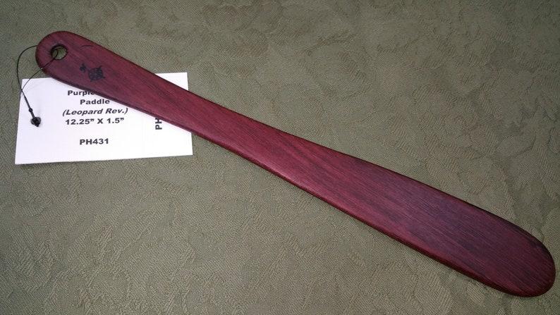 Purpleheart and Loepardwood Laminated Miss Rose Paddles Exotic image 0