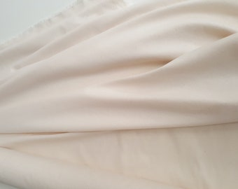 Brushed Cotton, (Domette) Cream/Unbleached/Natural Colour – fabric sold by the half yard